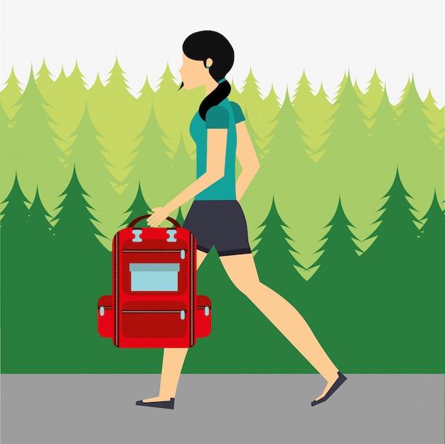 Diseño de personas caminando