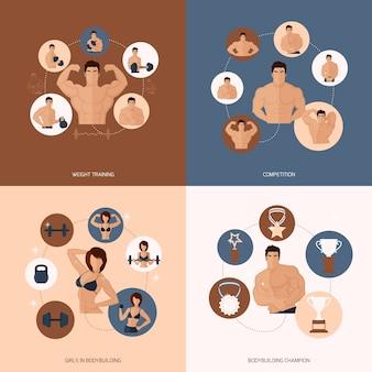 Diseño de personas musculosas
