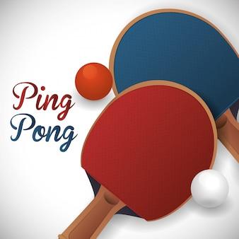 Diseño de ping pong deporte