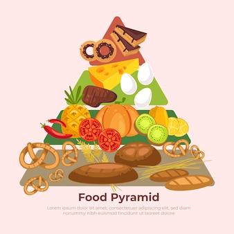 Diseño de pirámide de alimentos saludables