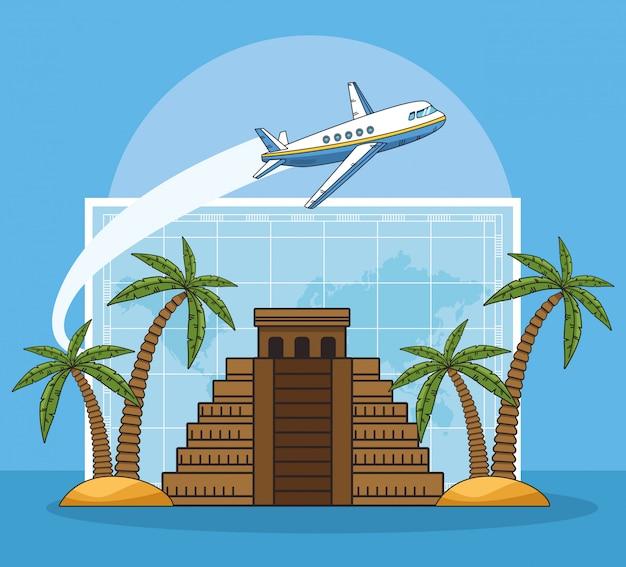Diseño de pirámides y viajes mundiales