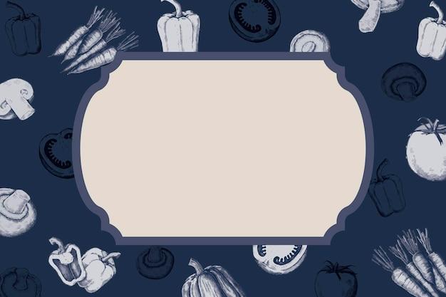 Diseño de placa vegetal en blanco