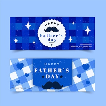 Diseño plano de banners del día del padre