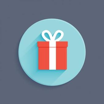 Diseño plano de caja de regalo
