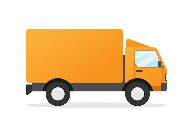 Diseño plano de camión de reparto