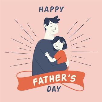 Diseño plano celebración del día del padre