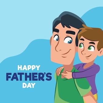 Diseño plano de celebración del día del padre