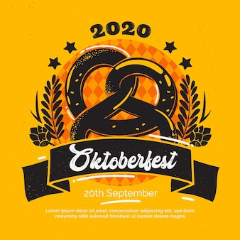 Diseño plano de la celebración del oktoberfest