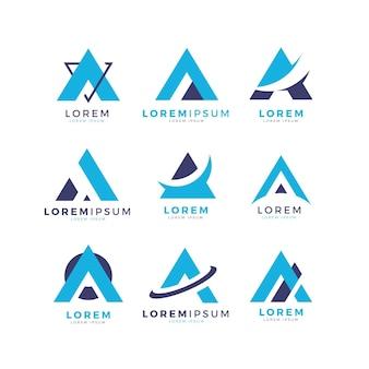 Diseño plano de una colección de logotipos