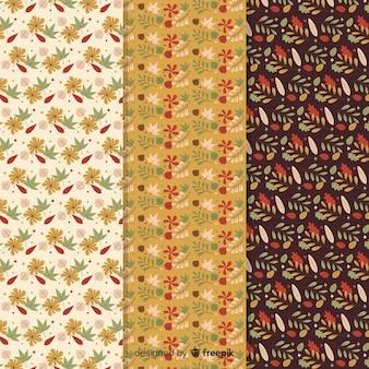 Diseño plano colección otoño patrón