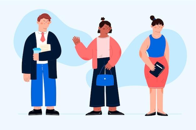 Diseño plano de la colección de personas de negocios