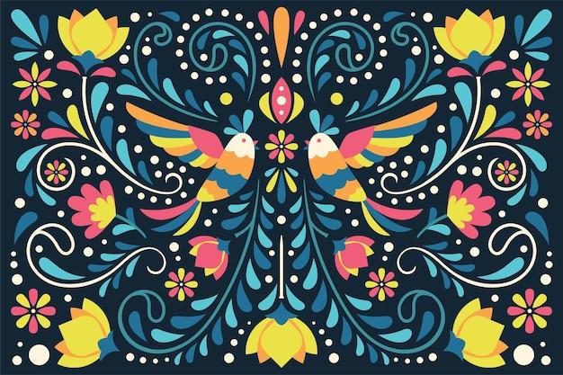Diseño plano colorido mexicano