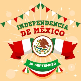 Diseño plano concepto de día de independencia