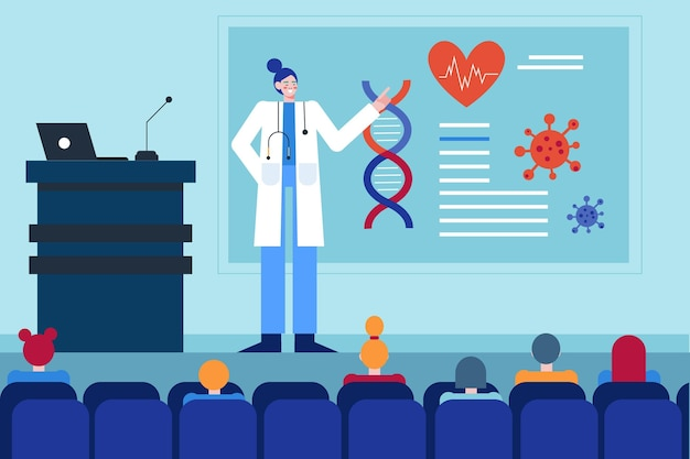 Diseño plano de conferencia médica