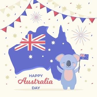 Diseño plano día de australia