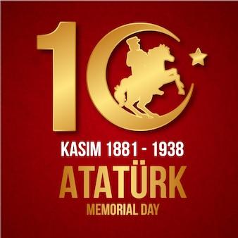 Diseño plano día conmemorativo de ataturk