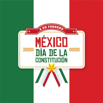 Diseño plano día de la constitución de méxico