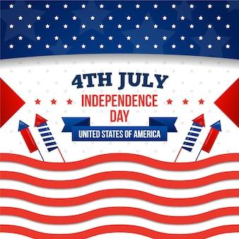 Diseño plano del día de la independencia