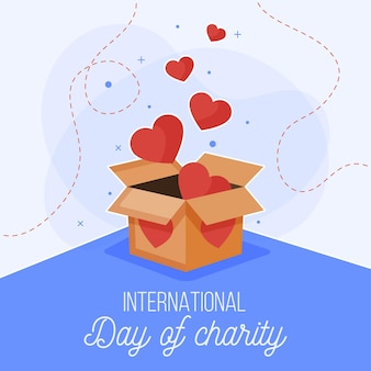 Diseño plano día internacional de la caridad