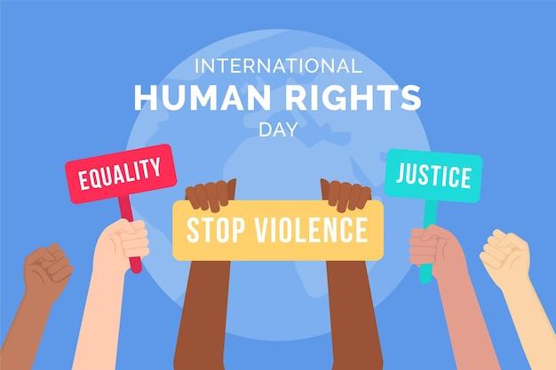 Diseño plano día internacional de los derechos humanos