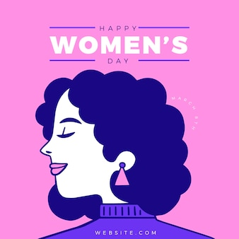 Diseño plano día internacional de la mujer