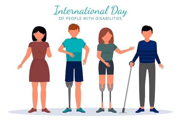 Diseño plano día internacional de las personas con discapacidad.