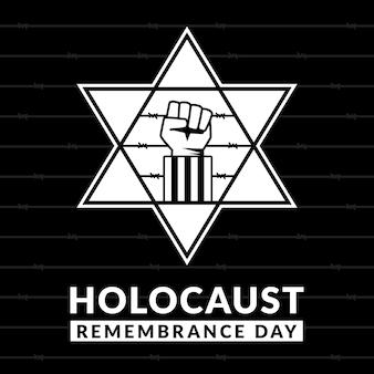 Diseño plano día internacional del recuerdo del holocausto.