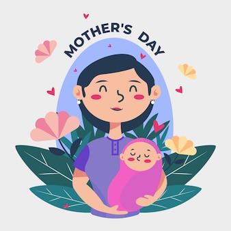 Diseño plano dia de las madres
