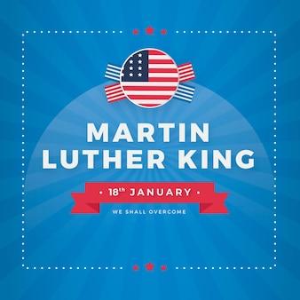 Diseño plano día de martin luther king