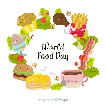 Diseño plano del día mundial de la alimentación.