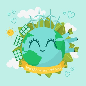 Diseño plano día mundial del medio ambiente