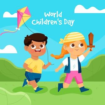 Diseño plano día mundial del niño.