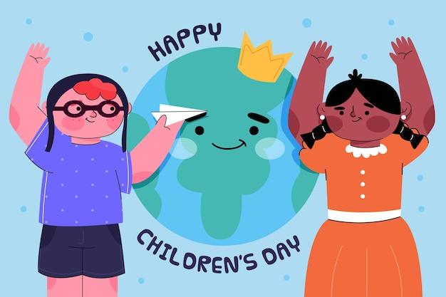 Diseño plano día mundial del niño