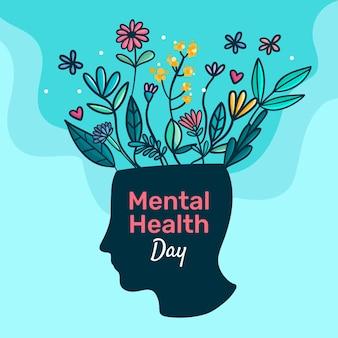 Diseño plano día mundial de la salud mental