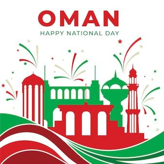 Diseño plano día nacional de omán