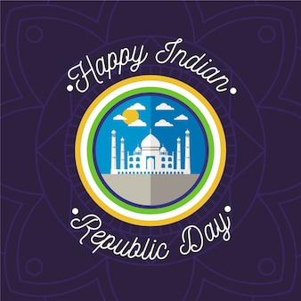 Diseño plano del día de la república india