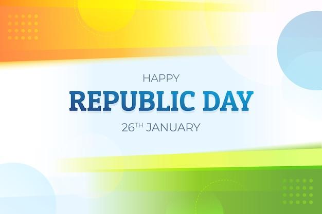 Diseño plano día de la república de india