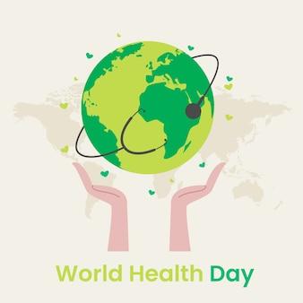 Diseño plano día de salud workd
