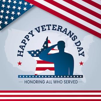 Diseño plano del día de los veteranos.
