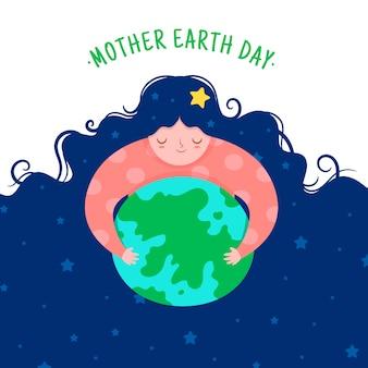 Diseño plano diseño del día internacional de la madre tierra