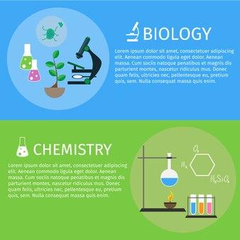 Diseño plano educación y aprendizaje banner horizontal.