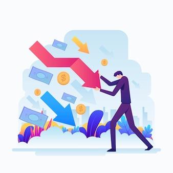 Diseño plano efecto bancarrota en economía