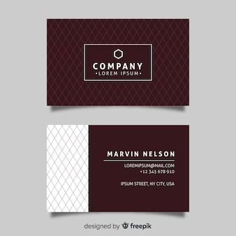 Diseño plano elegante tarjeta de visita