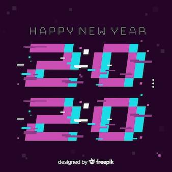 Diseño plano para evento de año nuevo 2020