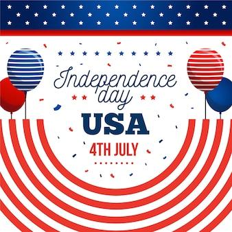 Diseño plano del evento del día de la independencia