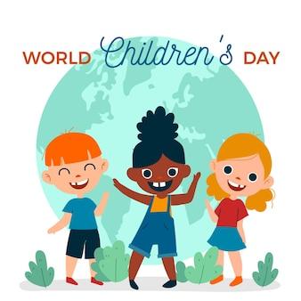 Diseño plano del evento del día mundial del niño.