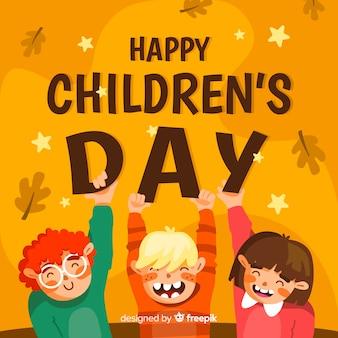 Diseño plano para evento del día del niño.