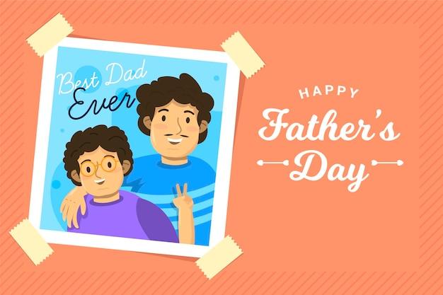 Diseño plano del evento del día del padre