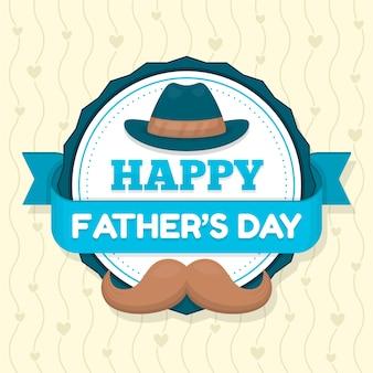 Diseño plano feliz día del padre