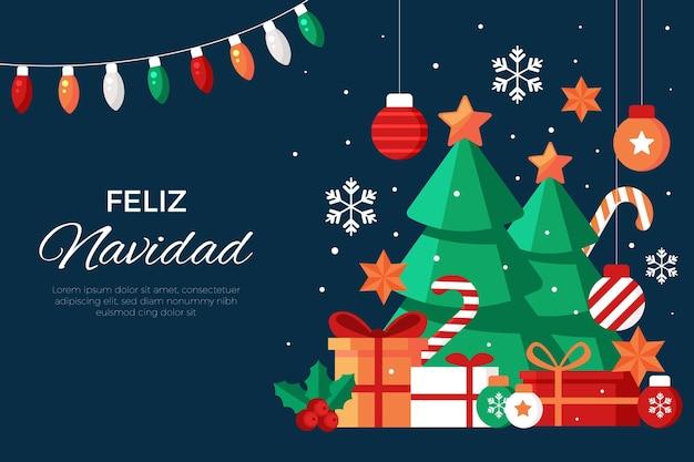 Diseño plano feliz navidad